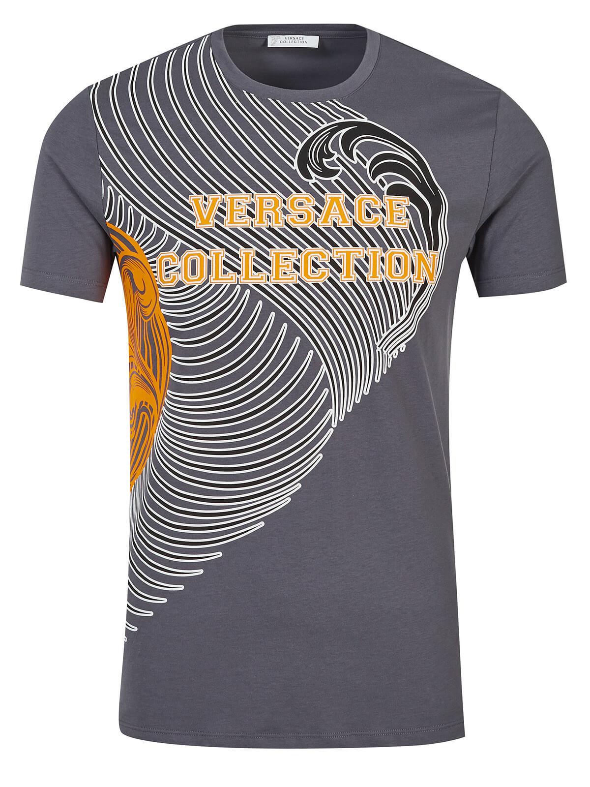 Versace Collection T-Shirt grau  40e0ec41a8