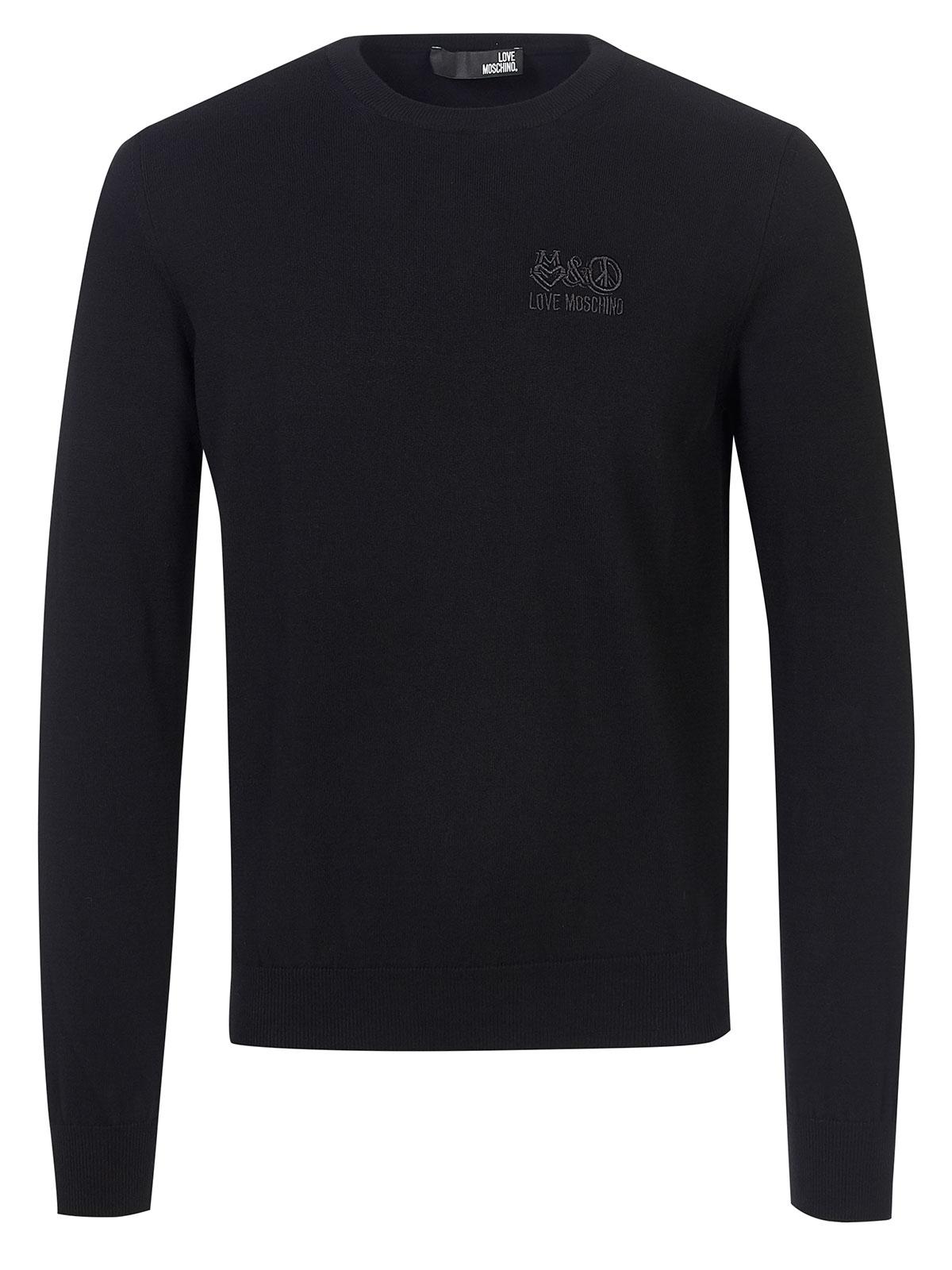 Fashionesta Pullover Shop Moschino Black Online Love wF6fHn