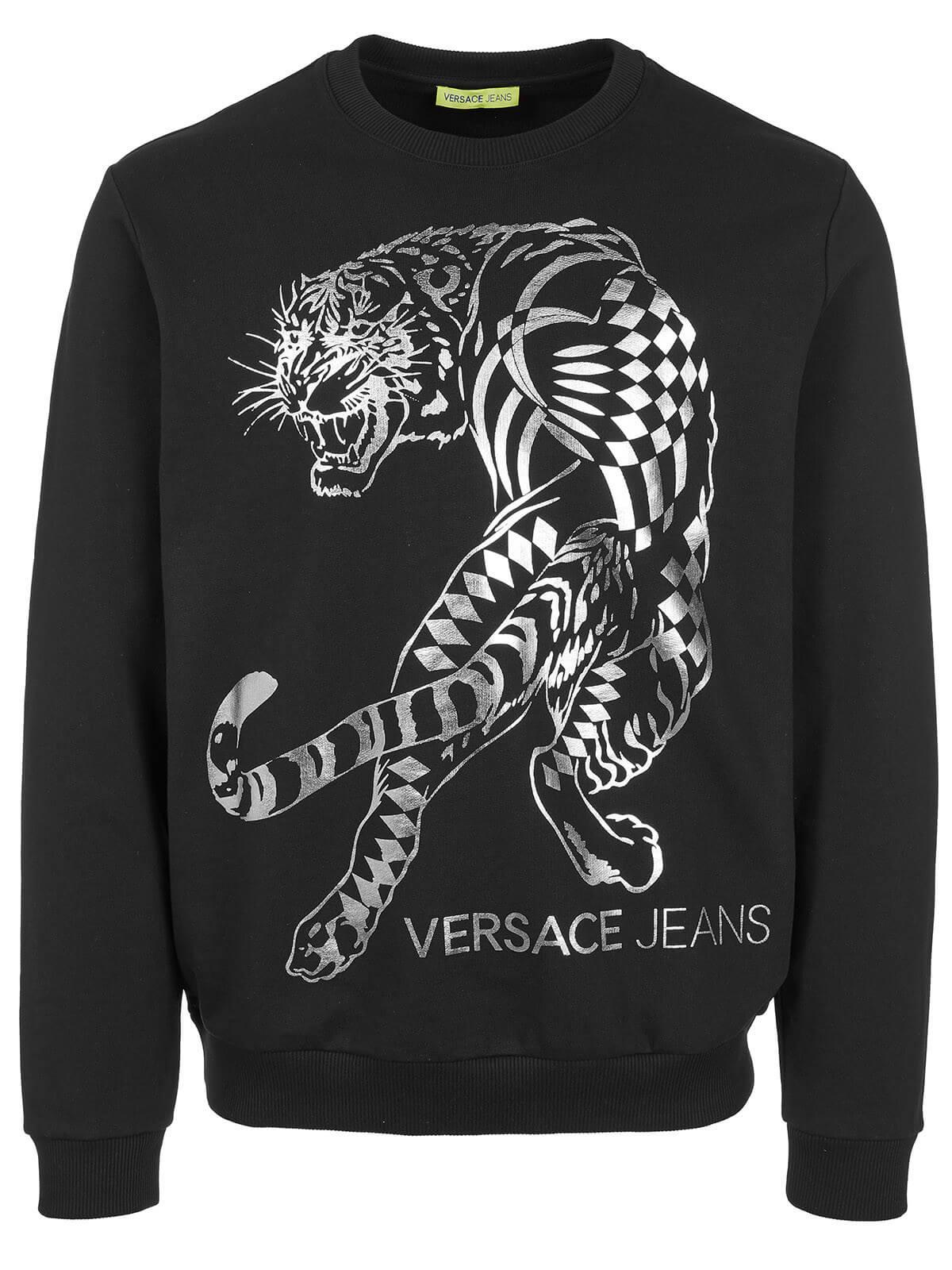 f16397feb Versace Jeans Crew Neck Logo T Shirt Black